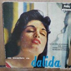 Discos de vinilo: DALIDA - RENDEZ-VOUS AU LAVANDOU, HAVA NAGUILA, GUITARE ET TAMBOURIN... - EP. BARCLAY 1959. Lote 194684270