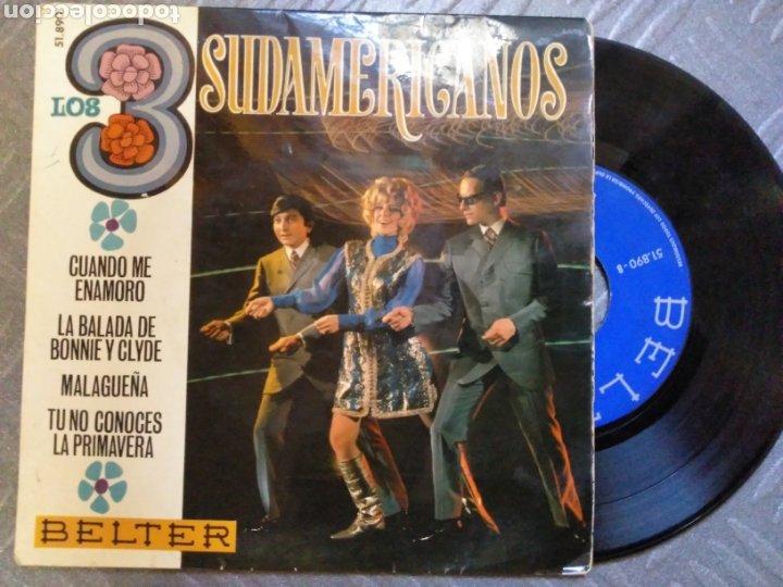 LOS TRES SUDAMERICANOS (Música - Discos de Vinilo - EPs - Grupos Españoles 50 y 60)