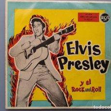 Discos de vinilo: ELVIS PRESLEY Y EL ROCK AND ROLL VG+ EDICION ESPAÑOLA 3-20161 EDDIE COCHRAN GENE VINCENT BUDDY HOLLY. Lote 194685527