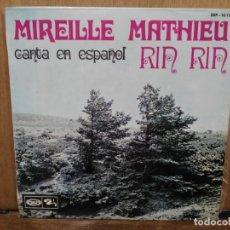 Discos de vinilo: MIREILLE MATHIE - RIN RIN, NAVIDENEÑAS, PETIT PAPA NOEL... - EP. DEL SELLO MOVIEPLAY 1968. Lote 194685620