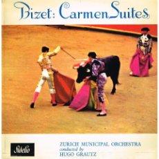 Discos de vinilo: BIZET - CARMEN SUITES - ZURICH MUNICIPAL ORCHESTRA - DIR. HUGO GRAUTZ - LP EDICION GB. Lote 194686075