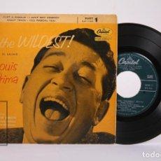 Discos de vinilo: DISCO EP DE VINILO - LOUIS PRIMA / THE WILDEST, EL SALVAJE - CAPITOL - AÑOS 50. Lote 194686775
