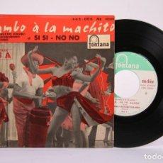 Discos de vinilo: DISCO EP DE VINILO - MAMBO A LA MACHITO / MACHITO Y SU ORQUESTA AFRO-CUBANA - FONTANA 1958 - FRANCIA. Lote 194686800
