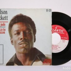 Discos de vinilo: DISCO SINGLE DE VINILO - WILSON PICKETT / HEY JUDE, BUSCA TU CORAZÓN - ATLANTIC - AÑO 1969. Lote 194687100