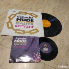 Discos de vinilo: MAXI 12*DEPECHE MODE- MASTER AND SERVANT SEÑOR Y ESCLAVO-ESPAÑA + SINGLE MASTER EDICION INGLESA. Lote 194688541