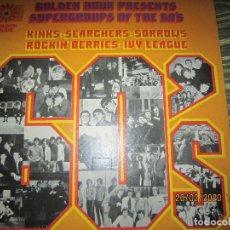 Discos de vinilo: GOLDEN HOUR PRESENTS SUPERGROUPS OF THE 60¨S LP - EDICION INGLESA - GOLDEN HOUR 1972 - STEREO -. Lote 194690687