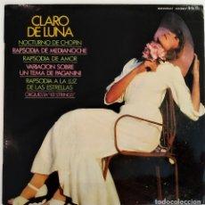 Discos de vinilo: LP CLARO DE LUNA, ORUESTA 101 STRINGS, BEETHOVEN, CHOPIN, DEBUSSY, RACHMANINOFF...ESPAÑA 197(VG+_NM). Lote 194692192