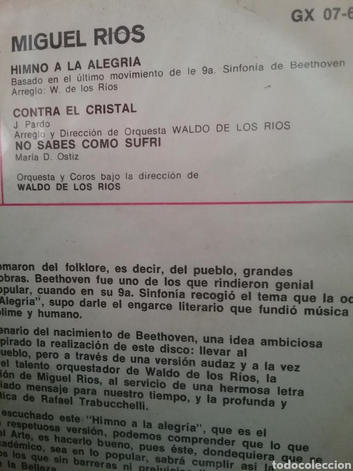 Discos de vinilo: MIGUEL RÍOS. EP. SELLO HISPAVOX / GAMMA. EDITADO EN MÉXICO. - Foto 2 - 194695613