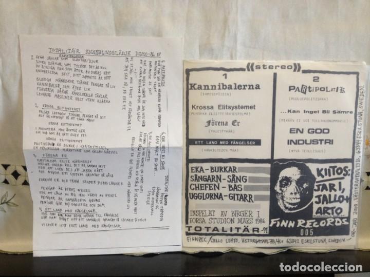 Discos de vinilo: Totalitär – Snabb Livsglädje - Demo -86 Vinyl, EP 7 45 RPM, EP, White Label. SWEDEN 1991 CON INSER - Foto 2 - 194698663
