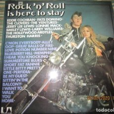 Discos de vinilo: ROCK N ROLL IS HERE TO STAY LP - ORIGINAL INGLES - UNITED ARTISTS 1972 . STEREO - MUY NUEVO(5). Lote 194701980