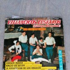 Discos de vinilo: VILLANCICOS EUSKAROS. Lote 194702413