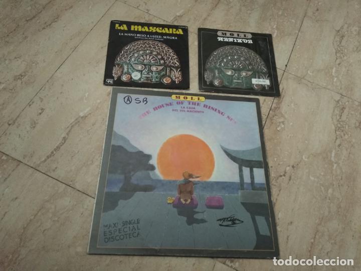 JOSE MARIA MOLL-MAXI LA CASA DEL SOL NACIENTE + DOS SINGLES (Música - Discos de Vinilo - Maxi Singles - Grupos Españoles de los 70 y 80)