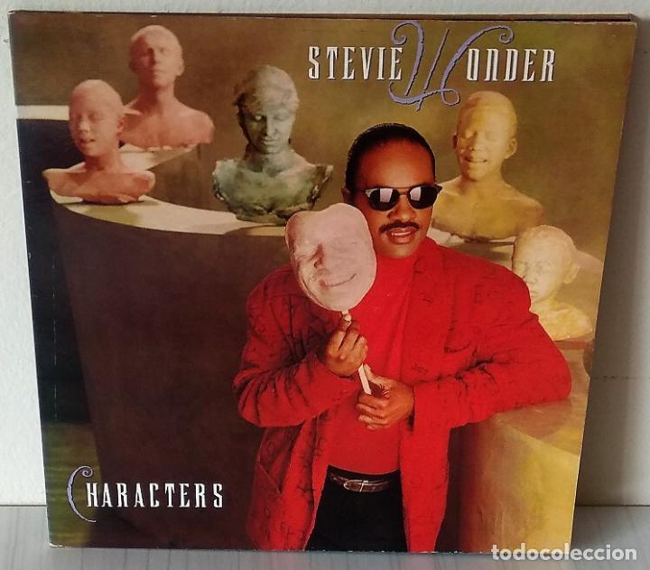 STEVIE WONDER - CHARACTERS MOTOWN - 1987 GAT (Música - Discos - LP Vinilo - Funk, Soul y Black Music)