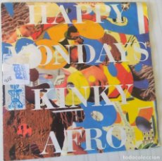 Discos de vinilo: HAPPY MONDAYS - KINKY AFRO LONDON EDIC. ALEMANA - 1990. Lote 194710235