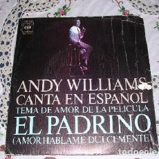 Discos de vinilo: ANDY WILLIAMS CANTA EN ESPAÑOL EL PADRINO / IMAGINE 197. Lote 194711766