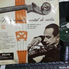 Discos de vinilo: FRANCESCATTI, RECITAL DE VIOLIN ESPAÑA. Lote 194713431
