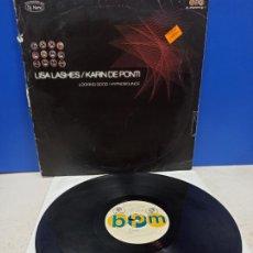 Discos de vinilo: MAXI SINGLE DISCO VINILO LSA LASHES KARIN DE PONTI LOOKING GOOD. Lote 194713670