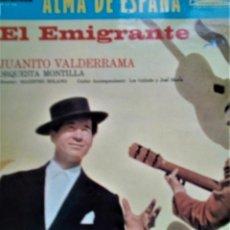Discos de vinilo: JUANITO VALDERAMA EL EMIGRANTE. Lote 194713856