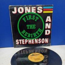Discos de vinilo: MAXI SINGLE DISCO VINILO JONES AND STEPHENSON FIRST THE REBIRTH. Lote 194713916