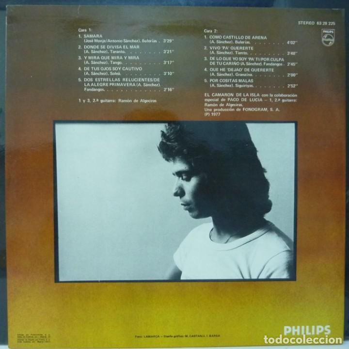 Discos de vinilo: CAMARON DE LA ISLA // CASTILLO DE ARENA // PACO DE LUCIA //1977 // (VG VG). LP - Foto 2 - 194713941