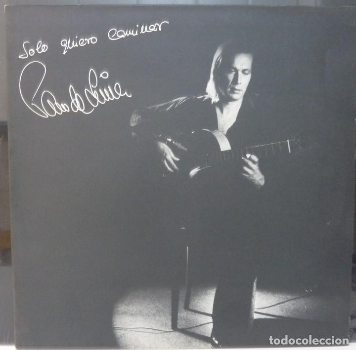 PACO DE LUCIA // SOLO QUIERO CAMINAR // 1981 // PORTADA DOBLE //(VG VG). LP (Música - Discos - LP Vinilo - Flamenco, Canción española y Cuplé)