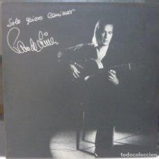 Discos de vinilo: PACO DE LUCIA // SOLO QUIERO CAMINAR // 1981 // PORTADA DOBLE //(VG VG). LP. Lote 194714322