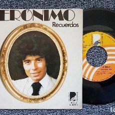 Discos de vinilo: JERÓNIMO - RECUERDOS / DIALOGO. EDITADO POR BEVERLY RECORDS. AÑO 1.976. Lote 194715205