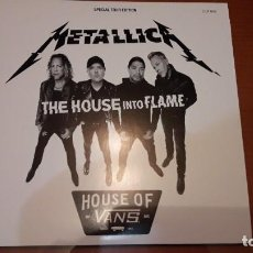 Discos de vinilo: METALLICA THE HOUSE INTO FLAME 2LP WHITE VINYL SPECIAL TOUR EDITION. Lote 194715726