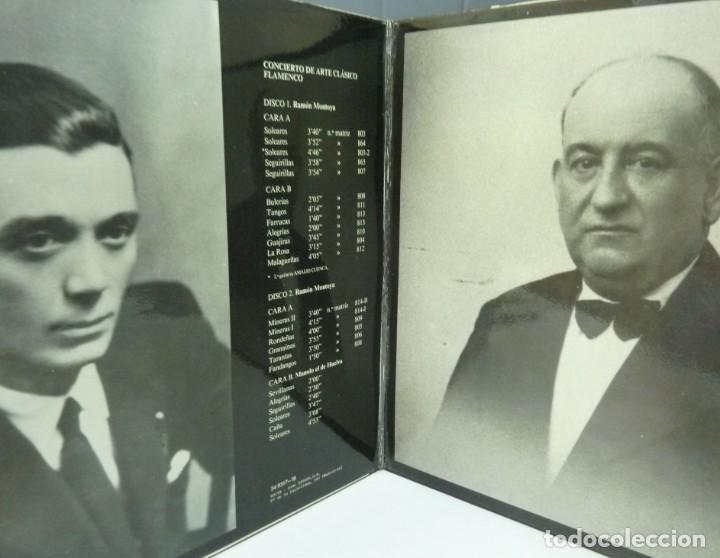 Discos de vinilo: RAMON MONTOYA /MANOLO EL DE HUELVA / III BIENAL DE ARTE FLAMENCO/ LIBRETO/1984/DISCO DOBLE/ LP - Foto 2 - 194715805