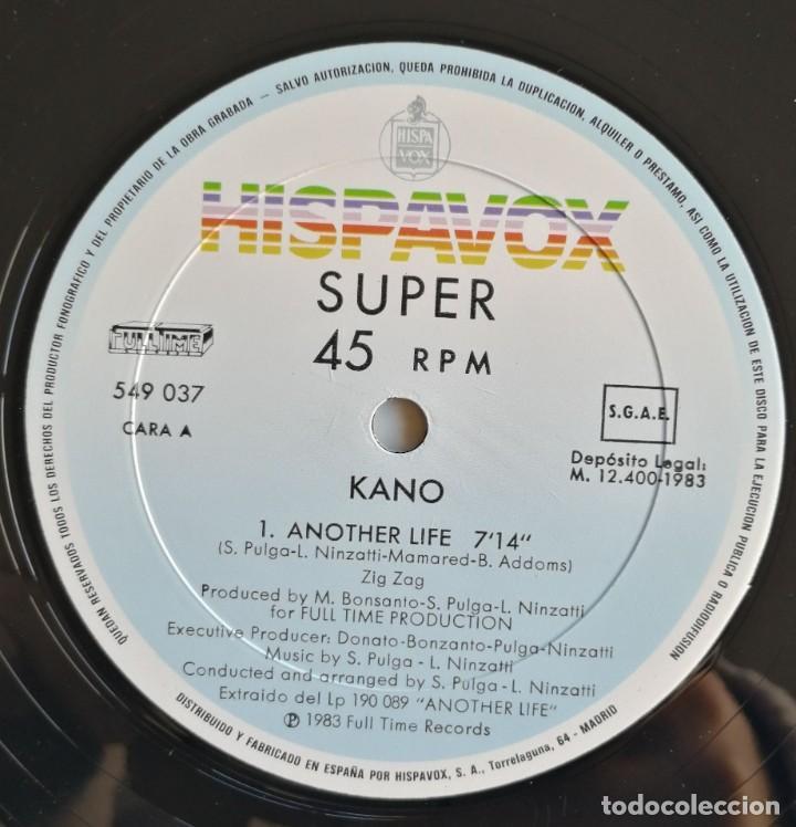 Discos de vinilo: Kano-Another Life Dance School, Hispavox 549 037, CON HOJA PROMOCIONAL - Foto 6 - 194717888