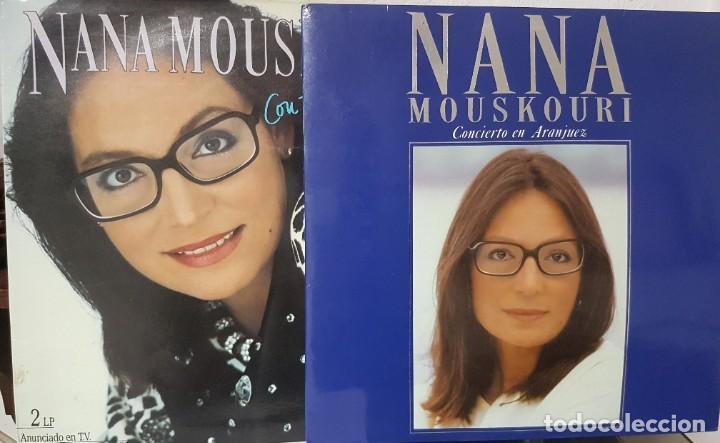 2 LOTES DE DOBLES LPS DE NANA MOUSKOURI - CON TODA EL ALMA Y CONCIERTO EN ARANJUEZ 1986 Y 1989 (Música - Discos - LP Vinilo - Cantautores Extranjeros)
