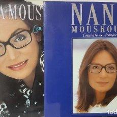 Discos de vinilo: 2 LOTES DE DOBLES LPS DE NANA MOUSKOURI - CON TODA EL ALMA Y CONCIERTO EN ARANJUEZ 1986 Y 1989. Lote 194719126