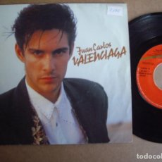 Discos de vinilo: JUAN CARLOS VALENCIAGA SG 7'' VUELVO PROMOCIONAL VIRGIN 1988 POP VG. Lote 194720295