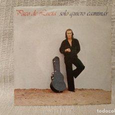 Discos de vinilo: PACO DE LUCIA - SOLO QUIERO CAMINAR / CONVITE - SINGLE DEL SELLO PHILIPS DEL AÑO 1981 EX / EX. Lote 194720433