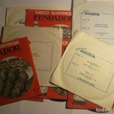 Discos de vinilo: LOTE DE 9 SINGLES-5 DE FUNDADOR Y 4 DE STARLUX. Lote 194722207