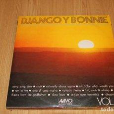 Discos de vinilo: DJANGO & BONNIE - THE ROMANTIC GUITAR SOUND FOR DANCING AND LISTENING PLEASURE - ALAMO AL-15.042. Lote 194723180