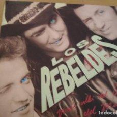 Discos de vinilo: LOS REBELDES MAS ALLA DEL BIEN Y DEL MAL LP 1988 INSERTO. Lote 194723707