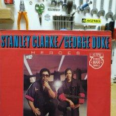 Discos de vinilo: STANLEY CLARKE - GEORGE DUKE HEROES. Lote 194723795