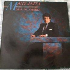 Discos de vinilo: LP MANZANITA. MAL DE AMORES, 1984.. Lote 194724332