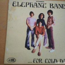 Discos de vinilo: ELEPHANT BAND FOR COLD DAYS VINILO DIEZ PULGADAS EDICION NUMERADA Y FIRMADA POR EL GRUPO INSERTO. Lote 194724416