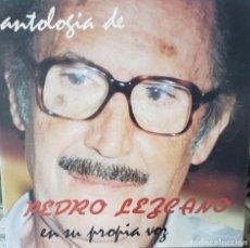 Discos de vinilo: ANTOLOGÍA DE PEDRO LEZCANO EN SU PROPIA VOZ - CCPC - POETA CANARIAS 1990 CON ENCARTE. Lote 194725296