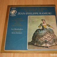 Discos de vinilo: JEAN-PHILIPPE RAMEAU - L'APOTHÉOSE DE LA DANSE AU XVIIE SIÈCLE - ODYSSEY 111066 - 1973 - BRAZIL. Lote 194725597