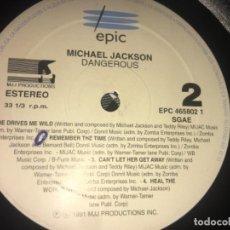 Discos de vinilo: LOTE 2 VINILOS MICHAEL JACKSON SIN CARÁTULA: DANGEROUS/ GET ON THE FLOOR. Lote 194725712