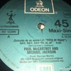 Discos de vinilo: PAUL MCCARTNEY Y MICHAEL JACKSON SIN CARÁTULA: SAY. Lote 194726328
