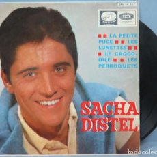Discos de vinilo: EP. SACHA DISTEL. LA PETITE PUCE + 3. Lote 194727521