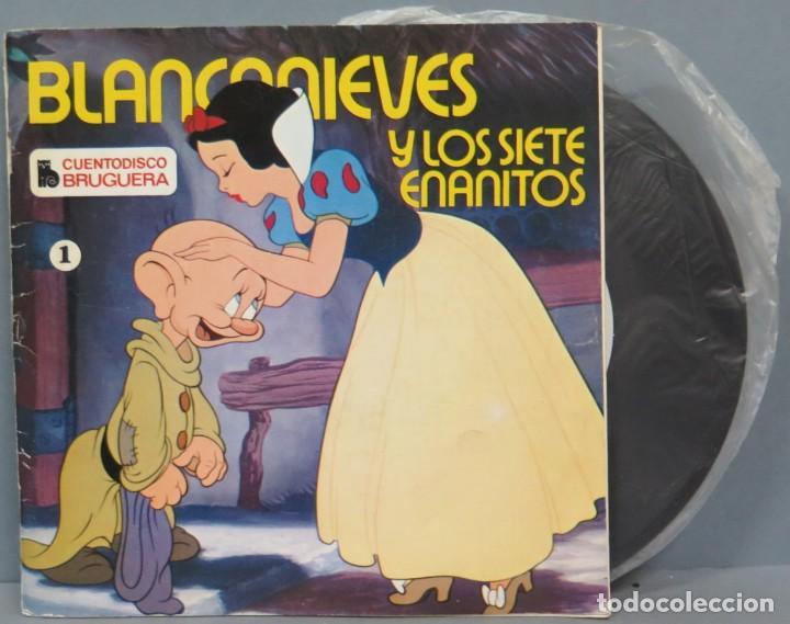 BLANCANIEVES Y LOS SIETE ENANITOS. CUENTODISCO BRUGUERA (Música - Discos - Singles Vinilo - Música Infantil)