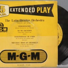 Discos de vinilo: EP. THE LATIN QUARTER ORCHESTRA. M.G.M. Lote 194728240