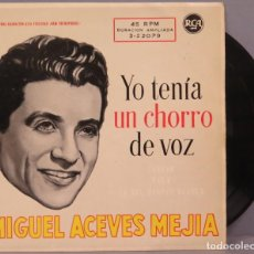 Discos de vinilo: EP. MIGUEL ACEVES MEJIA. YO TENIA UN CHORRO DE VOZ. Lote 194728396