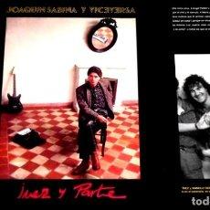 Discos de vinilo: V465 - JOAQUIN SABINA Y VICEVERSA. JUEZ Y PARTE. LP VINILO NUEVO. Lote 194728921