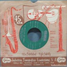 Discos de vinilo: SINGLE. AL MORIR DE LAS TARDES. GRANJA. Lote 194729340